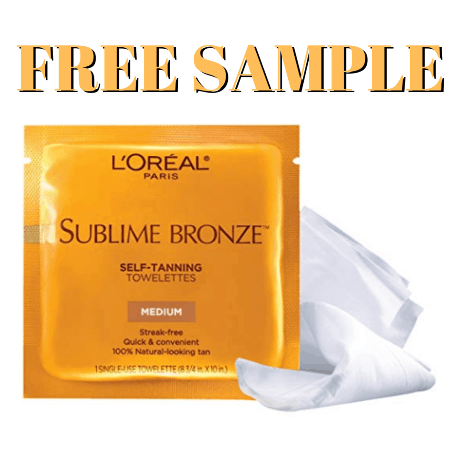 Free L'Oreal Sublime Bronze Self Tanning Towelettes Sample