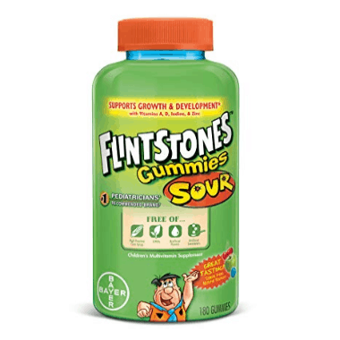 Flintstones Complete Multivitamin Sour Gummies, 180 Count Only $7.94