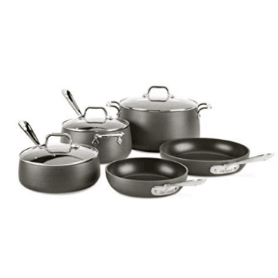 All-Clad HA1 8-Piece Hard Anodized Nonstick Cookware Set $237.96 **$100 Off**