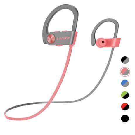 Letsfit Wireless Bluetooth IPX7 Waterproof Sports Earphones Only $13.96