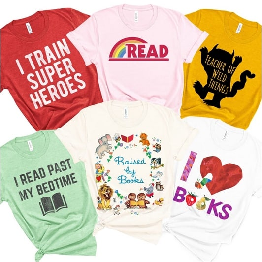 Celebrate Reading & Teachers Soft Tees Only $13.99