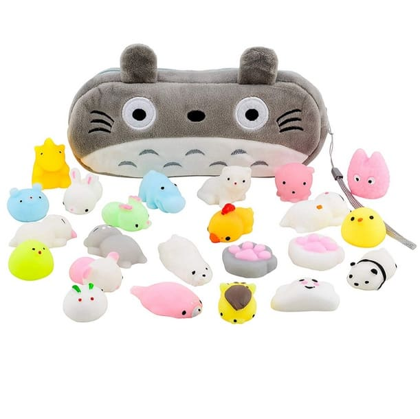 Mochi Squishy Toys 20-Count + Kawaii Cat Carrying Bag Only $15.99