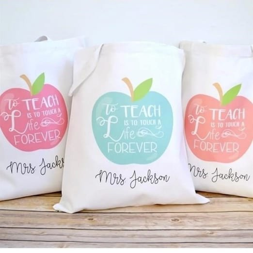 Personalized Canvas Teacher Totes Only $8.95 **15 Designs**