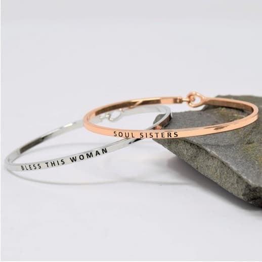 Engraved Stacking Bracelets Only $7.99 **35 Designs**
