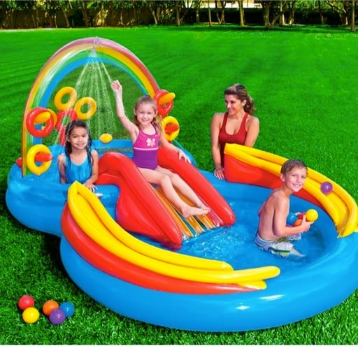 Intex Rainbow Ring Inflatable Play Center Only $40.99