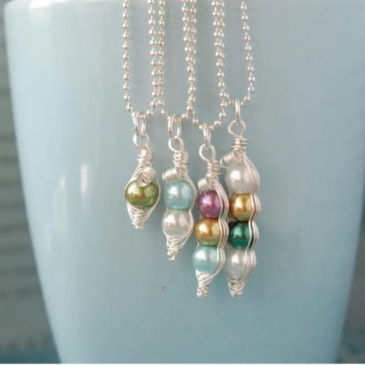 Custom Mama's Sweet Peas Necklace Only $9.99