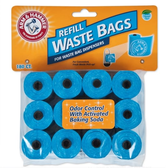 Arm And Hammer Disposable Waste Bag Refills Blue 180 Count Only $8.23