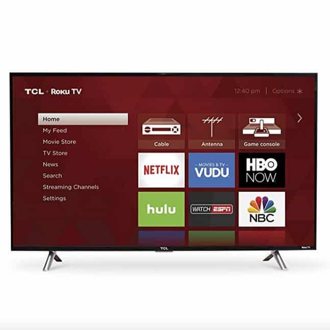 TCL 43-Inch 1080p Roku Smart LED TV Only 9.99 **Today Only**