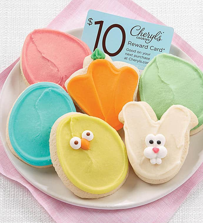 Cheryl's 6 Easter Cookie Sampler + $10 Gift Card - $9.99 Shipped **Great Easter Gift Idea**