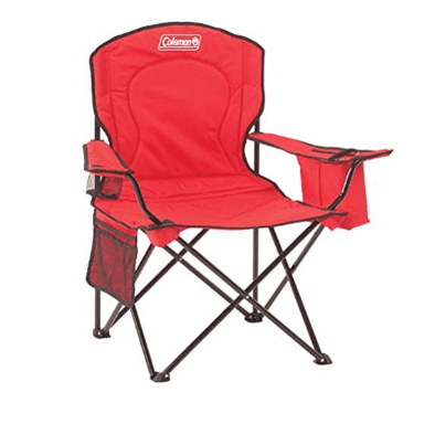 Coleman Cooler Quad Portable Camping Chair, Red Only $19.99 (Was $34.99)