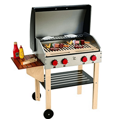 Award Winning Hape Gourmet Grill and Shish Kabob Wooden Play Kitchen Only $90.62 (Was $133.87)