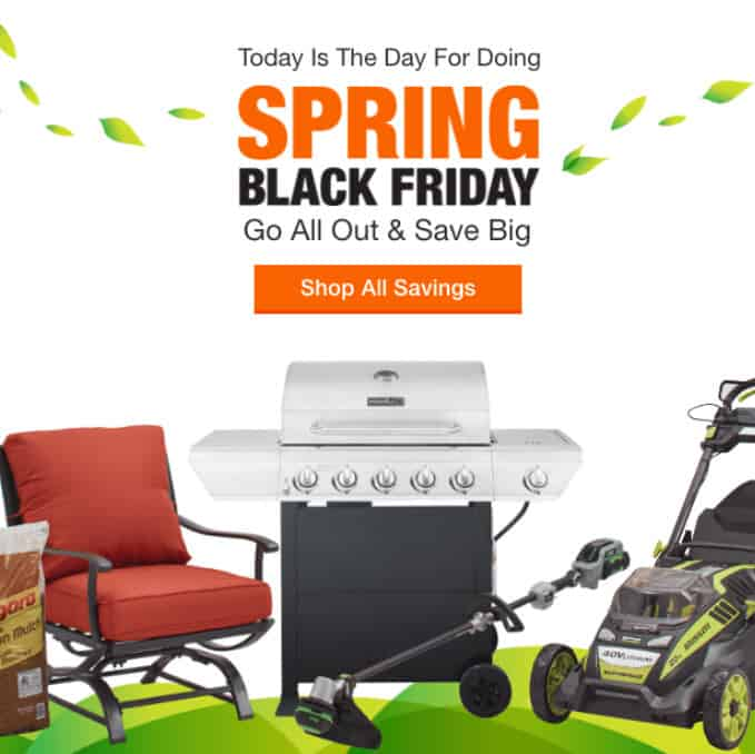 Home Depot: SPRING Black Friday Sale is LIVE