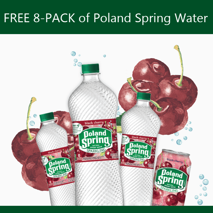 FREE 8-PACK of Poland Spring Brand Sparkling Natural Spring Water Coupon