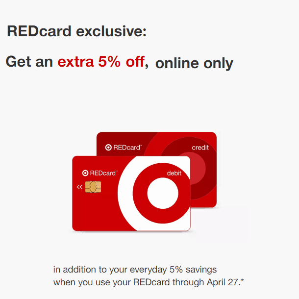 Target Stacking Discounts: REDcard Holders Get an EXTRA 5% off - Online Only