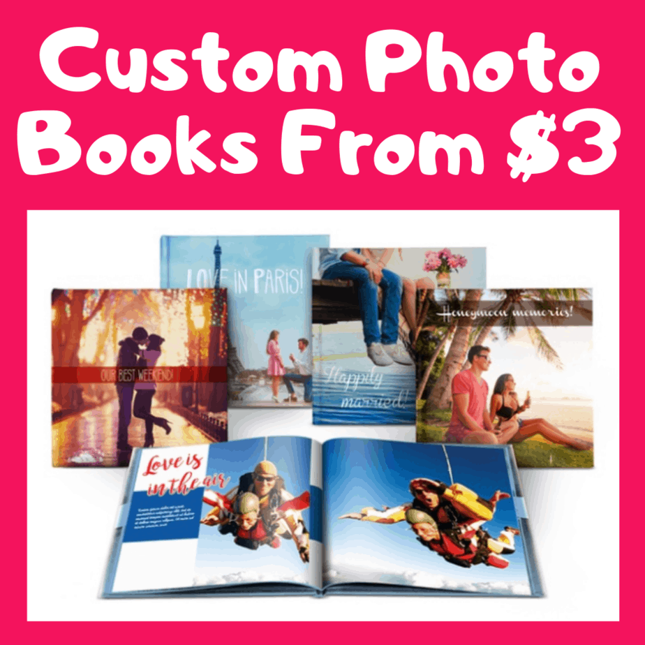 Personalized  8×8″ 40-Page Hard-Cover Photo Book ONLY $4