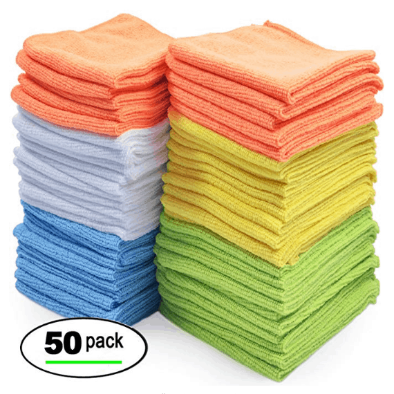 Best Microfiber Cleaning Cloths – Pack of 50 Towels $17.09