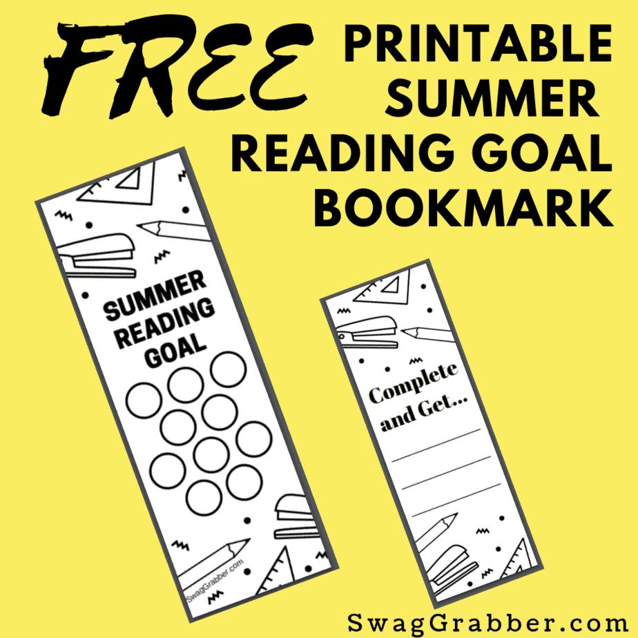 FREE Printable Summer Reading Goal Bookmark