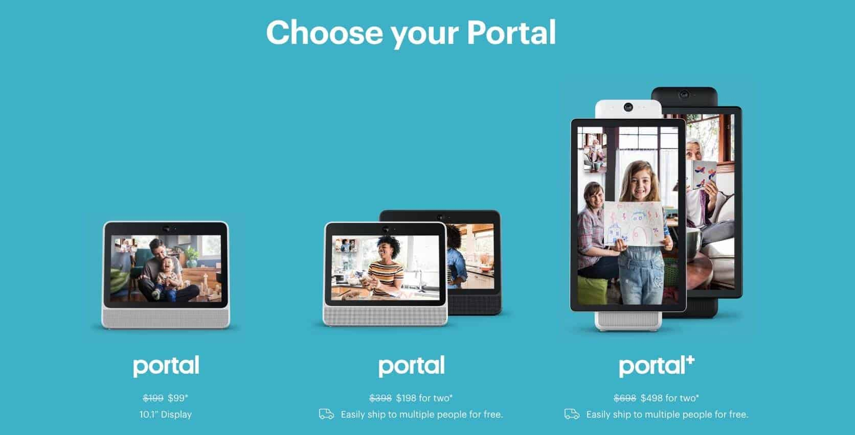 $100 off Portal from Facebook - Only $99 Shipped