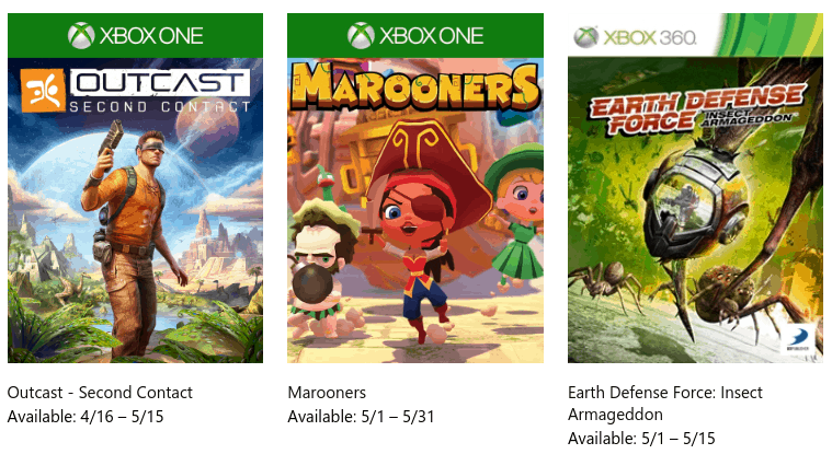 FREE Xbox Games Available for May 2019