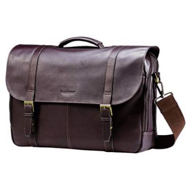 Samsonite Colombian Leather Flap-Over Messenger Bag Only $59.99