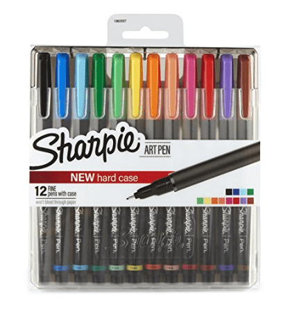 Sharpie Art Pens, Fine Point, Assorted Colors, 12 Pack $6.00