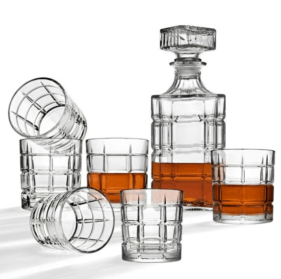 Home Depot: 7 Piece Clear Crystal Decanter and Cocktail Glass Set Only $14.99