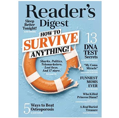 Reader's Digest Magazine Subscription $5.00