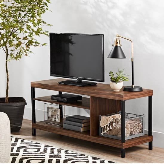 Mainstays Sumpter Park Collection Media TV Stand for TVs Only $49