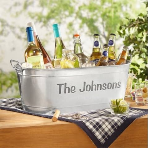 Personalized Galvanized Beverage Tub Only $19.97