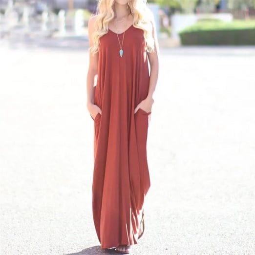 Maxi Tank Dress with Pockets Only $19.99