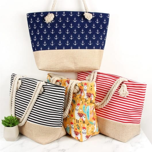 Printed Summer Totes Only $9.99