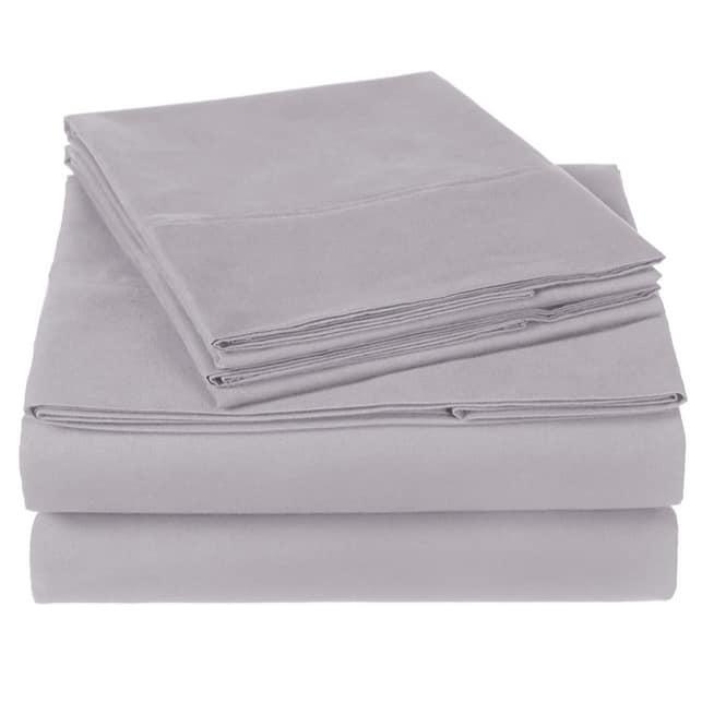 Pinzon Organic Cotton Queen Sheet Set in Dove Grey Only $19.99
