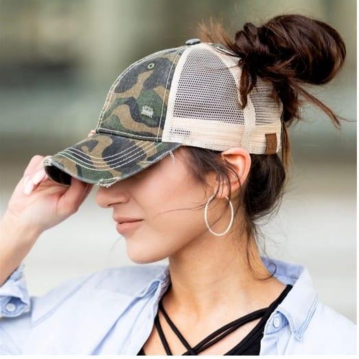 C.C Messy Bun Hats Only $14.99