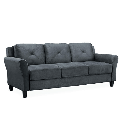 Lifestyle Solutions Harrington Sofa in Dark Grey $206.99