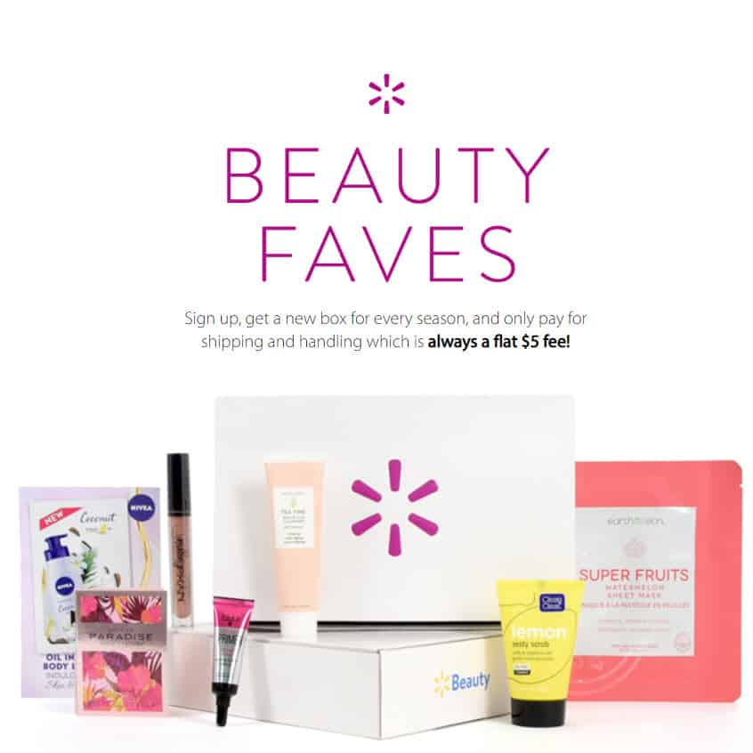 FREE Walmart Beauty Box - Just Pay  Shipping