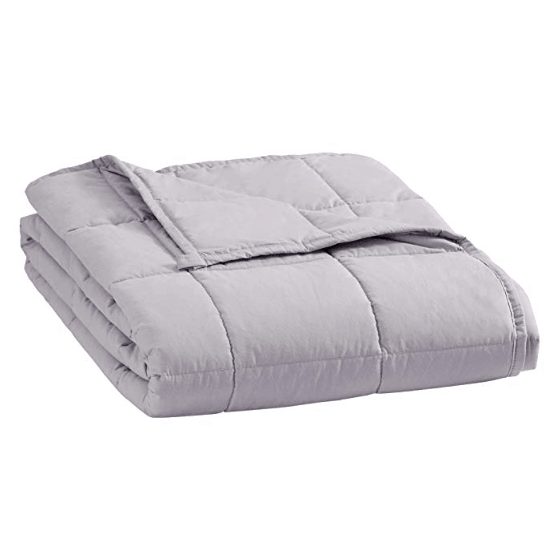 """puredown Weighted Glass Beads Heavy Blanket 41""""x 60"""" 7lbs Light Grey Only $31.49"""