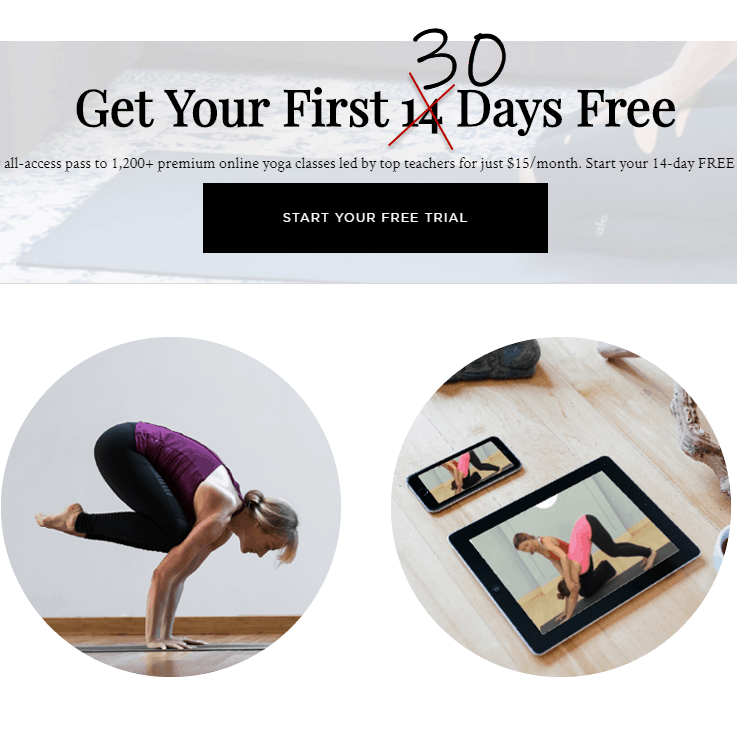 First Month Free - Get Access to Over 1,000 Yoga Classes!