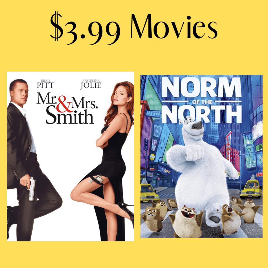 Amazon: $3.99 Digital Movies - Mr. & Mrs. Smith, Rush Hour, & More