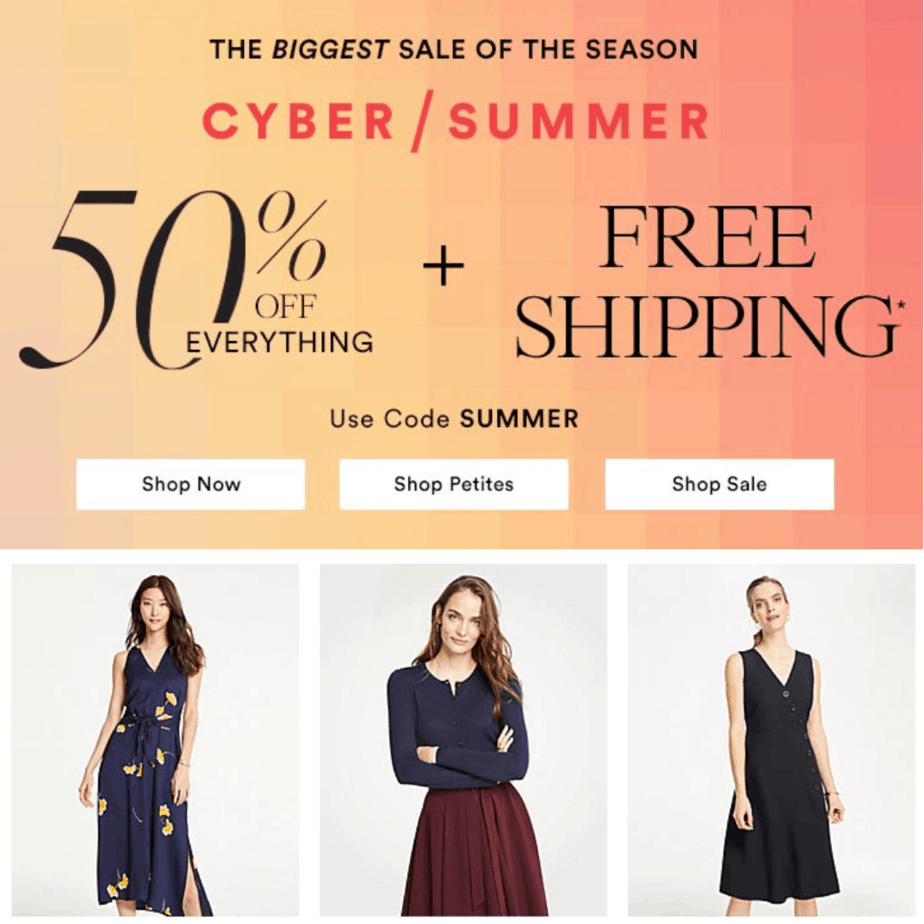 75% off Ann Taylor Clothing + Free Shipping