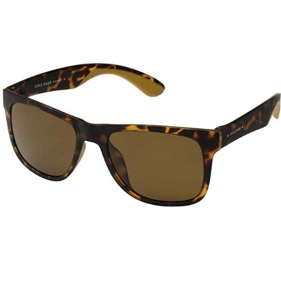 Cole Haan Men's Polarized Matte Dark Tortoise Sunglasses $27.99