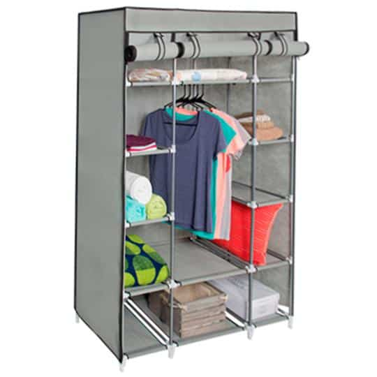 13-Shelf Closet Organizer w/ Fabric Cover & Hanging Rod ONLY $19.99 Shipped (Was $82)