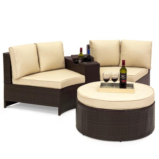 4-Piece Best Choice Products Wicker Sectional Sofa Set $399.99 (Was $793)