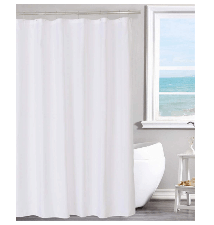 Fabric Shower Curtain Liner Solid White, Hotel Quality $7.83