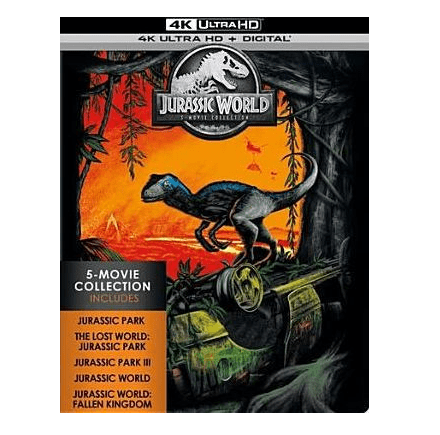 Barnes & Noble: Jurassic World: 5 Movie Collection 4K UHD + Blu-Ray $35.99 (Was $75)