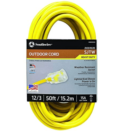 Southwire Outdoor Extension Cord 50 Foot- Yellow $26.48