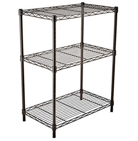AmazonBasics 3-Shelf Shelving Storage Unit $24.67