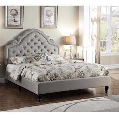 LIFE Home Platform Bed, Queen in Light Grey $184.99