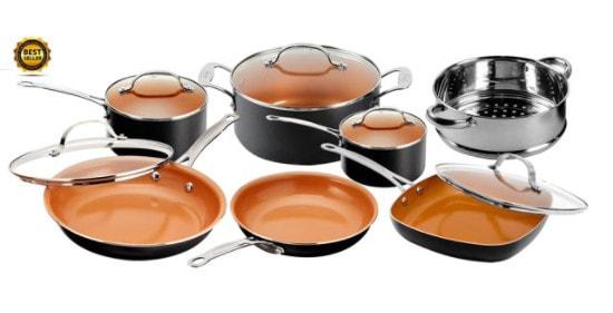 Gotham Steel Nonstick Black Frying Pan & Cookware Set, 12 Piece Only .88