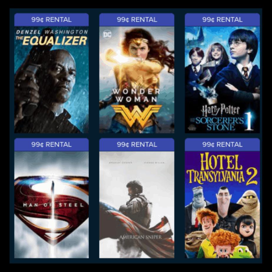 VUDU, Prime Video, FandangoNOW or Google Play Rentals Only $0.99