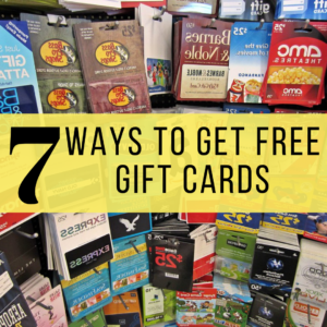 7 Ways To Get Free Gift Cards